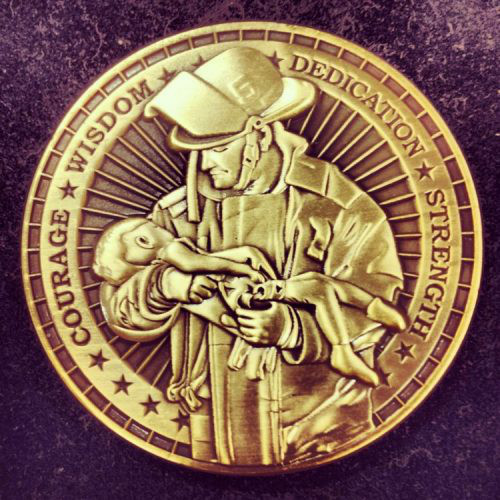 Firefighter Challenge Coin History