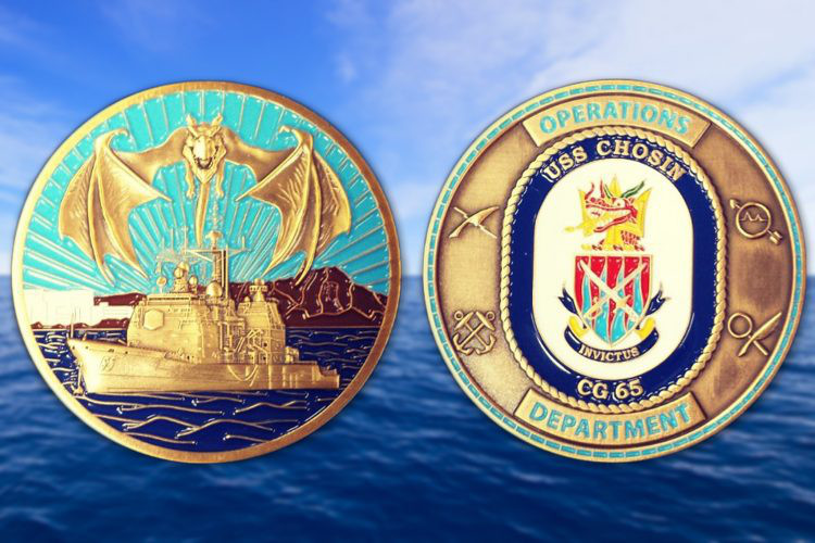 Navy Challenge Coins Commemorate Naval Service