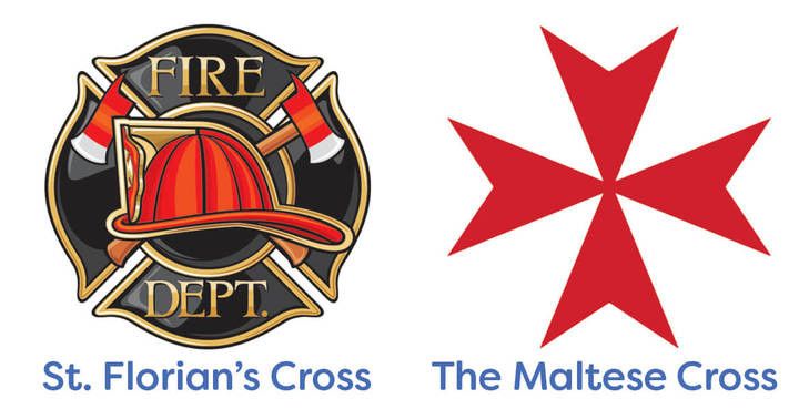 Firefighter Challenge Coins: St. Florian's Cross or Maltese Cross?